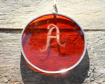 Stained Glass Alphabet A