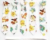 Boys - Pokemon Velcro Neck Tie, ready to ship (sizes 2-6 years)
