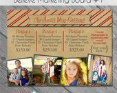 SALE INSTANT DOWNLOAD - Believe Marketing Board 1- custom 5x7 photo template