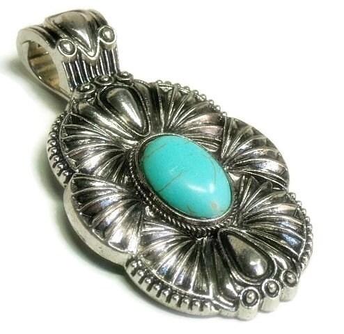 turquoise pendant clip on interchangeable magnetic pendant