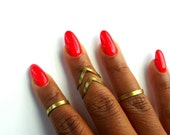 Gold, geometric ring- adjustable, everyday, statement ring-ring set