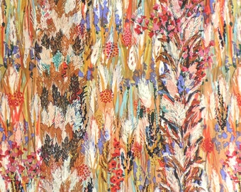 Fabric Abstract Nature Print Cotton 44 x 56