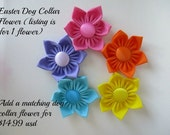 Easter Dog Collar Flower, Martingale Collar Flower, Dog Collar Flower, Flower Dog Collar, Fabric Flower, Large Collar Flower