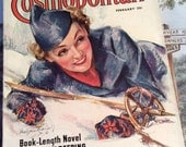 Vintage 1936 Magazine Cosmopolitan February 1936 Great Advertising Articles This Is A Complete Magazine