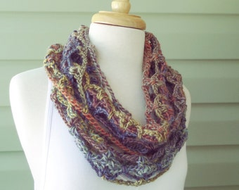 PATTERN S-039 - Crochet Pattern ... Lucille Infinity ... worsted 150 yards