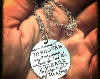 Custom Sterling  Disc Necklace - Your Choice of 14 Fonts, 325 Symbols