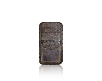 iPhone 6, iPhone 7 RETROMODERN aged leather pocket - - DARKBROWN