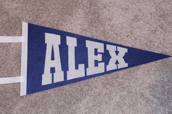 Boy's Personalized Sport Pennant - baseball basketball football soccer school spirit birthday gift idea party name bedroom decoration custom