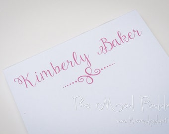 Lovely Personalized Notepads - Custom Made