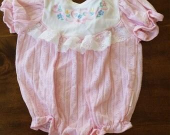 Baby girl bubble onesie