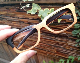 unique AAA customize  Paris AUTUMN two tone rosewood eyeglasses frames from TAKEMOTO