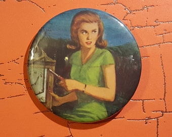 Nancy Drew 2.25 inch button