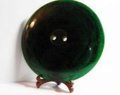 Dark Lime Juice Green Bakelite Button 2 Inch