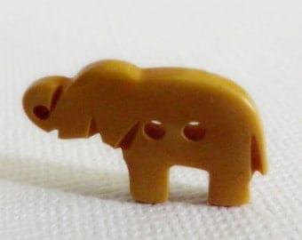 Bakelite Yellow Elephant Button Realistic