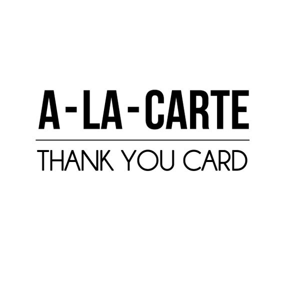 A-LA-CARTE - Thank You Card