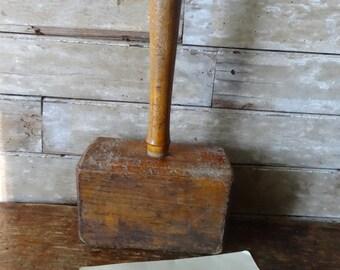 Vintage Wooden Mallet Large