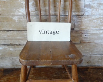 Vintage Wooden Bowback Childs Chair Lovely