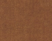 Rust Brown Herringbone Fabric Shetland Flannel Herringbone Fabric in Sable by Robert Kaufman Fabrics - 1 Yard