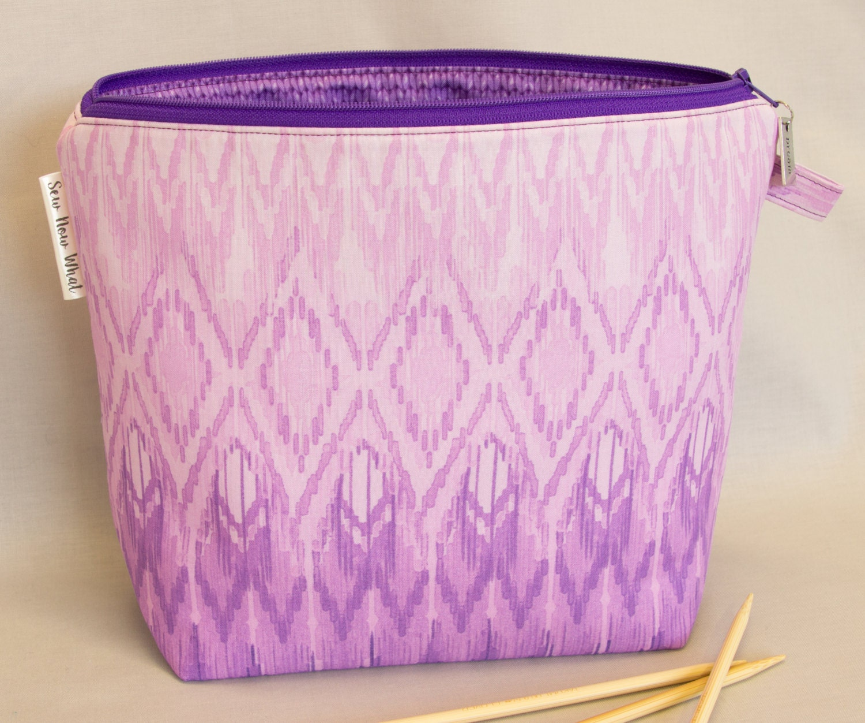 knitting project bag crochet project bag inside pockets