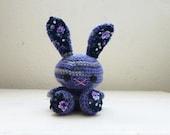 Amigurumi bunny, crochet bunny, purple bunny, bunny tail, rabbit doll, amigurumi animal, crochet amigurumi, ready to ship, handmade, kawaii