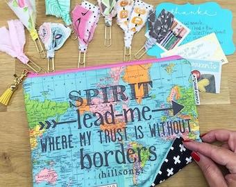 spirit lead me #kateandaprilconspire patchwork bag