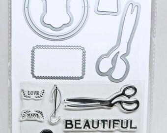 KaiserCraft Dies & Stamp Set -- Tailor Made -- Planner Journal Scrapbook Cards