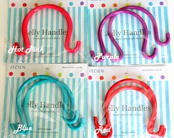 Jelly handles by lecien(red, hot pink, blue,and purple)