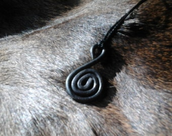 Hand Forged Celtic Spiral Pendant