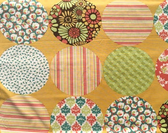 SALE : 3/4 yard Blossom Urban Chiks Picnic Patchwork sweet maple