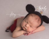 Newborn mohair Mickey Mouse set  Newborn photo prop
