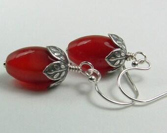 Carnelian Jewelry, Carnelian Earrings, Orange Stone Earrings, Orange Jewelry, Feng Shui Jewelry,Orange Stone Jewelry, Gift For Her