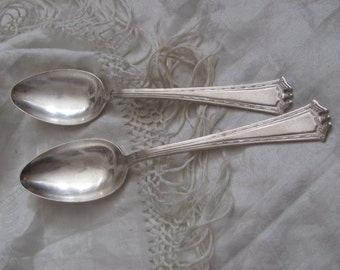 Vintage Silver Plate Large Serving Spoon Set of 2 - Continental 1914 Pattern