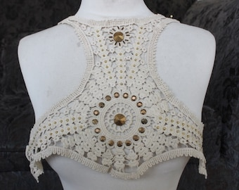 Cute  beaded venice applique   1 pieces listing  ivory    color