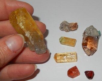 Topaz Crystal set of Seven