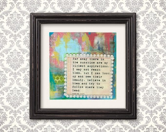 little women book quote art print louisa may alcott