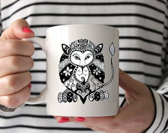Lion Zentangle Drawing Coffee Mug