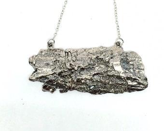 Silver Tree Bark Necklace