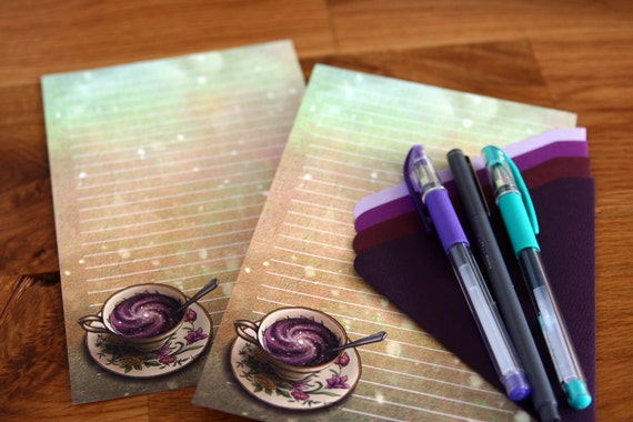 A Cup of Galaxy - A5 Stationery - 12, 24 or 48 sheets