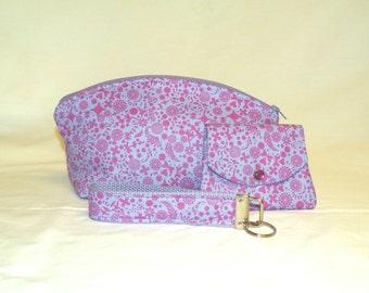 Make-Up Bag/Wallet/Gift Card Holder/ Key Fob Gift Set
