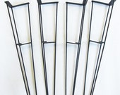 Four Vintage Mid Century Modern Hairpin Table legs with Shelf Brackets - 24""