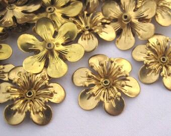 10pcs Begonia Flower 22mm Filigree Flower Wholesale Supplies f109