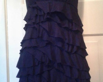 Express Black Ruffle Halter Dress