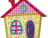 Cottage House 2 Applique Machine Embroidery Design Pattern-INSTANT DOWNLOAD