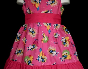 Sleeveless Summer Dress Sesame Street Smurfette Smurf Boutique 12/18M 24M/2T 3T/4T 5/6 Pageant New