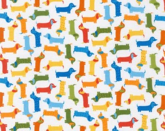 Robert Kaufman  Bermuda Mini Dachshund Dog Fabric -  1 yard