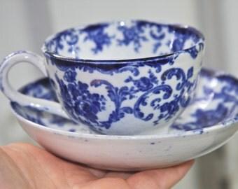 Flow Blue teacup