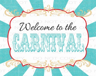"""Printable DIY Welcome to the Circus Poster 20"""" x 16"""" - INSTANT DOWNLOAD"""