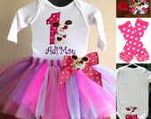puppy 2nd birthday outfit with tutu, bodysuit & headband