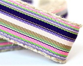 Colorful Stripe Dog Leash, 1 Inch Dog Leash,  Preppy Leash, 6 ft Dog Leash, Dog Leash