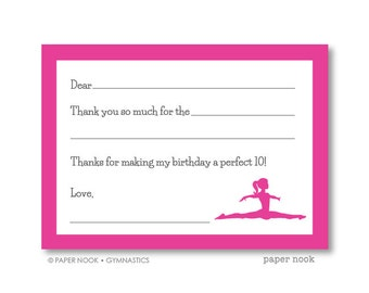 Gymnastics PRINTABLE Fill-in-the-Blank Thank You Note